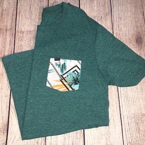 ad813c22e Hurley Shirts | Shredded Tropics Pocket Tshirt Mens Large | Poshmark